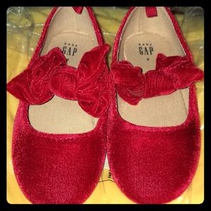 Baby Gap Red Velvet Shoes